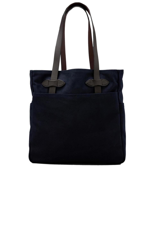 Filson Open Tote Bag in Navy | REVOLVE