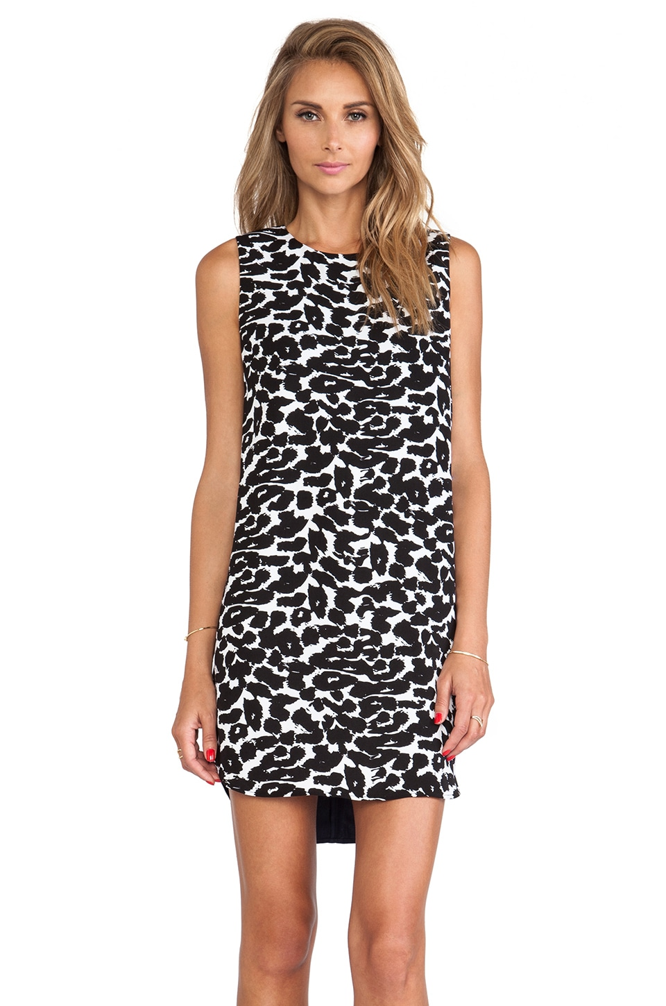 Finders Keepers Simple Life Dress in Leopard Print & Petrol