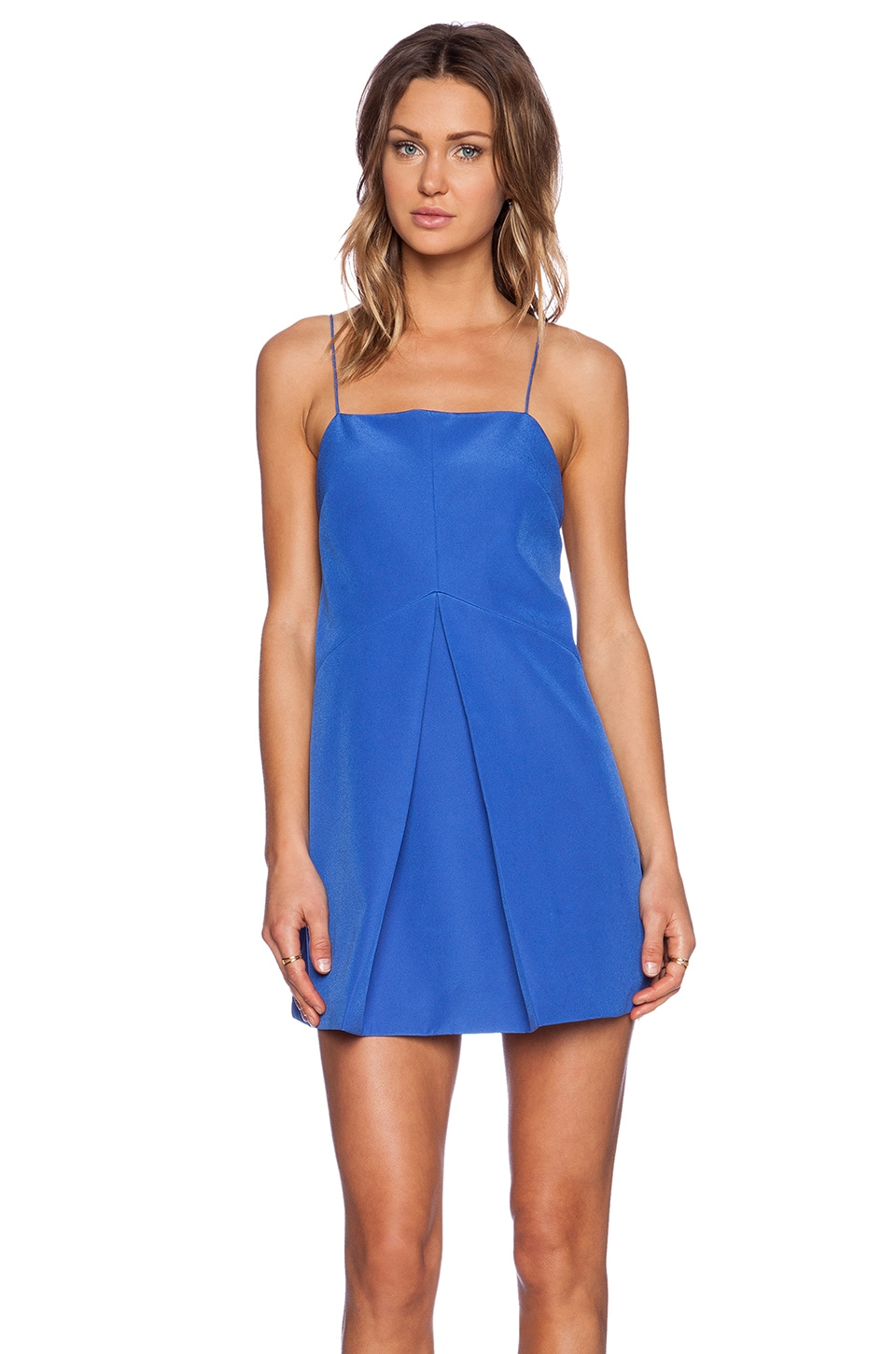 Finders Keepers All Time High Cut Out Back Dress in Dazzling Blue