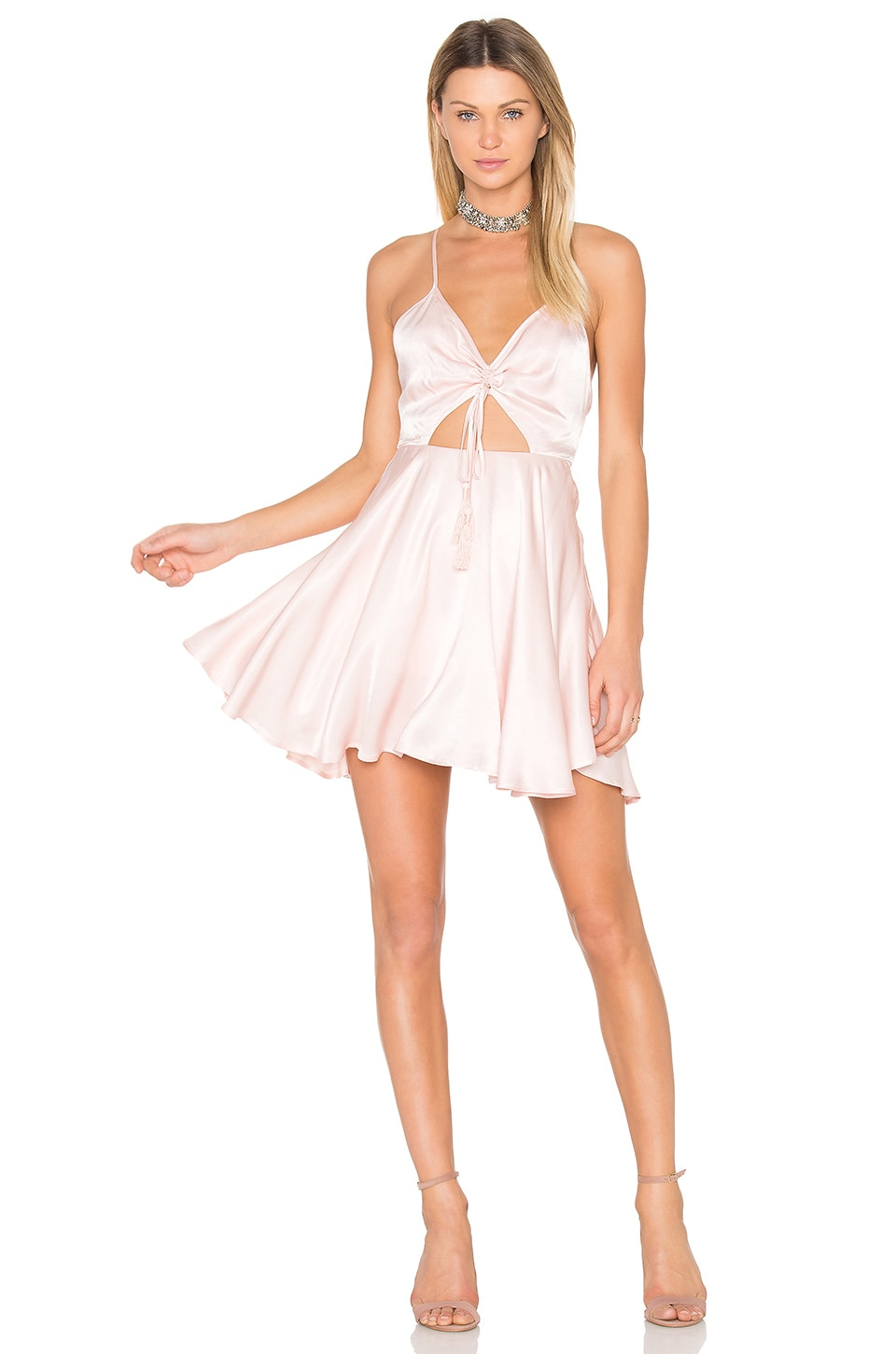 Finders Keepers Fernando Mini Dress in China Pink