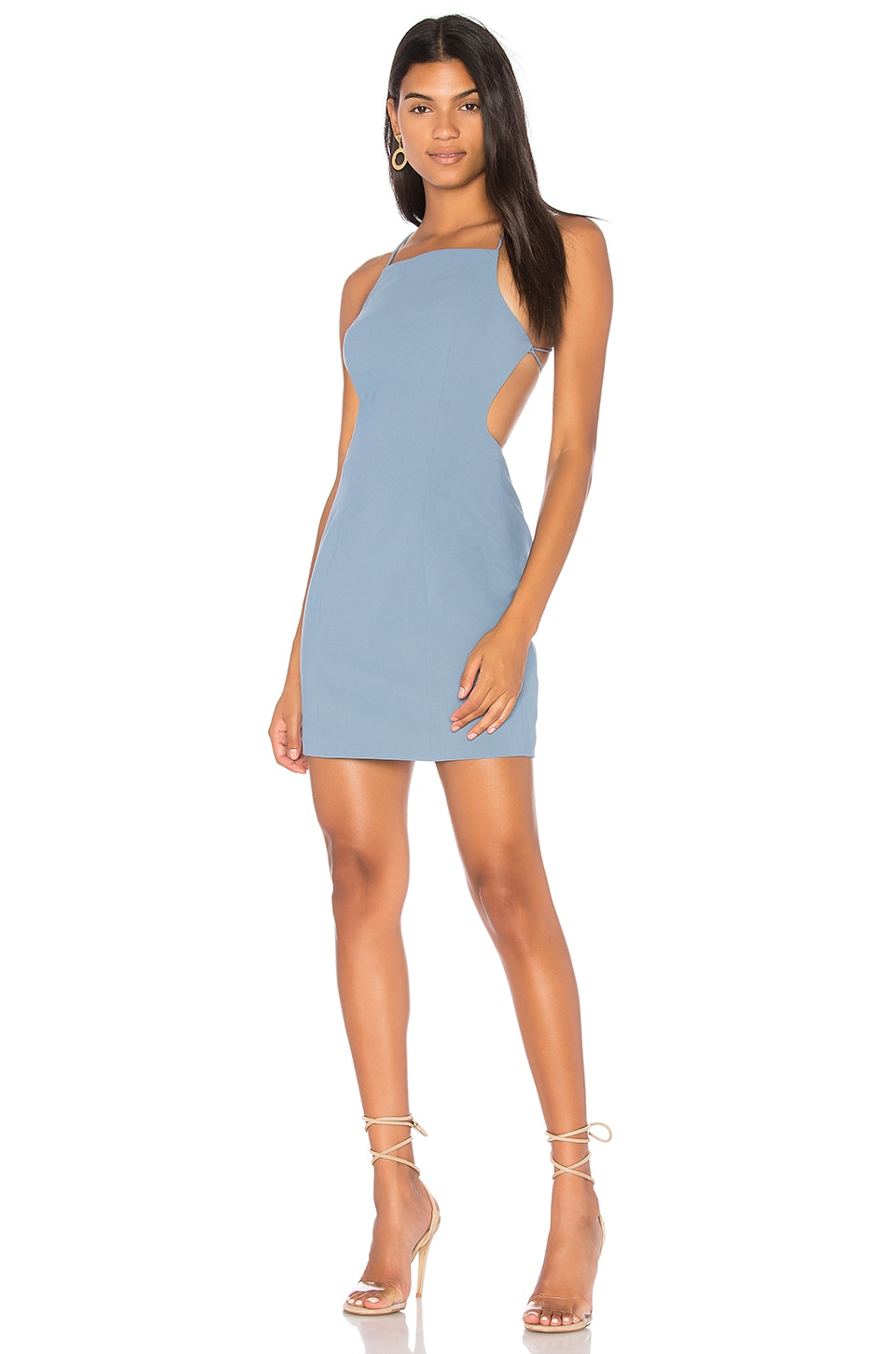 Finders Keepers Vice Dress in Washed Blue
