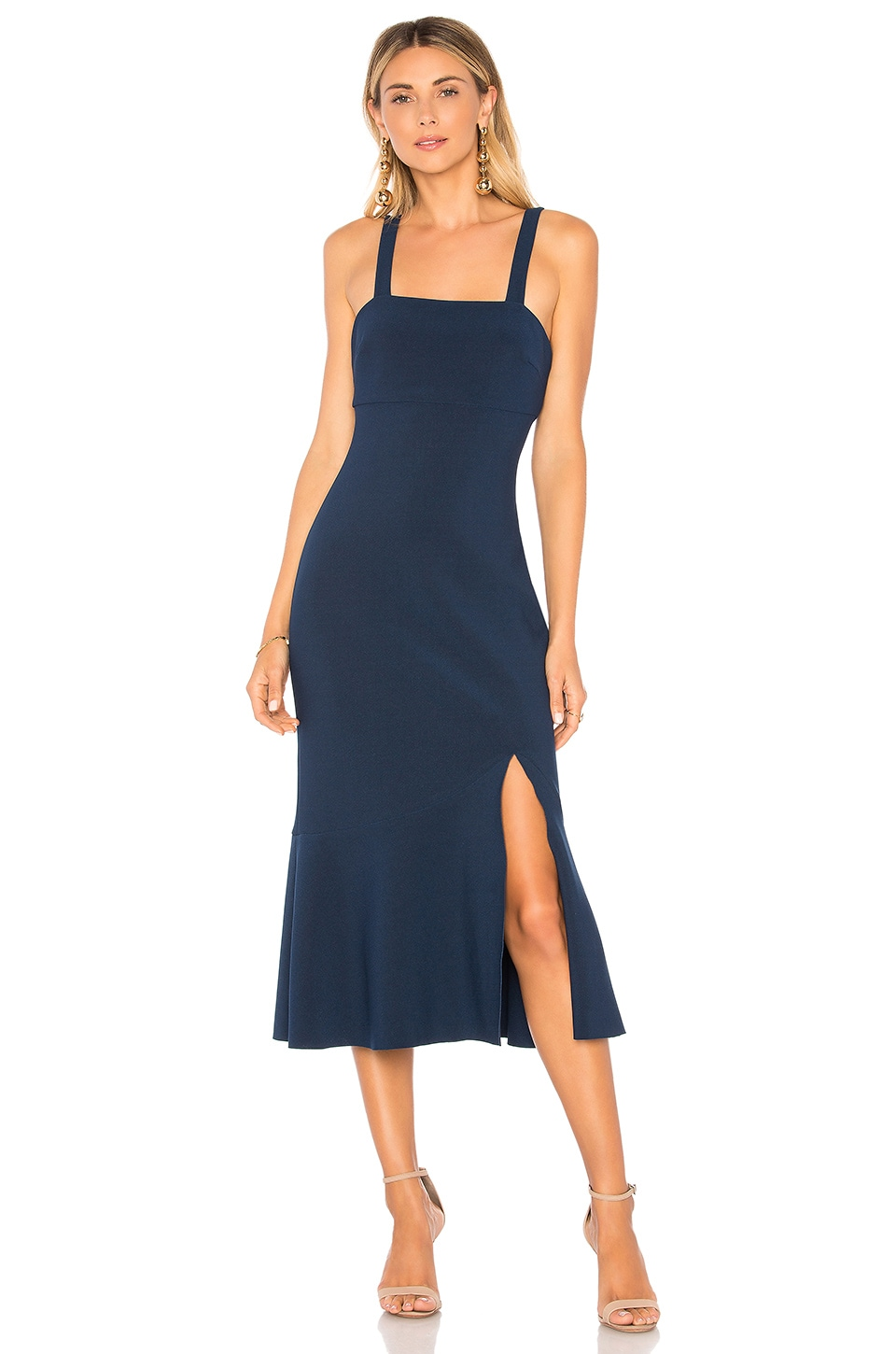 Finders Keepers Tribute Midi Dress in Navy