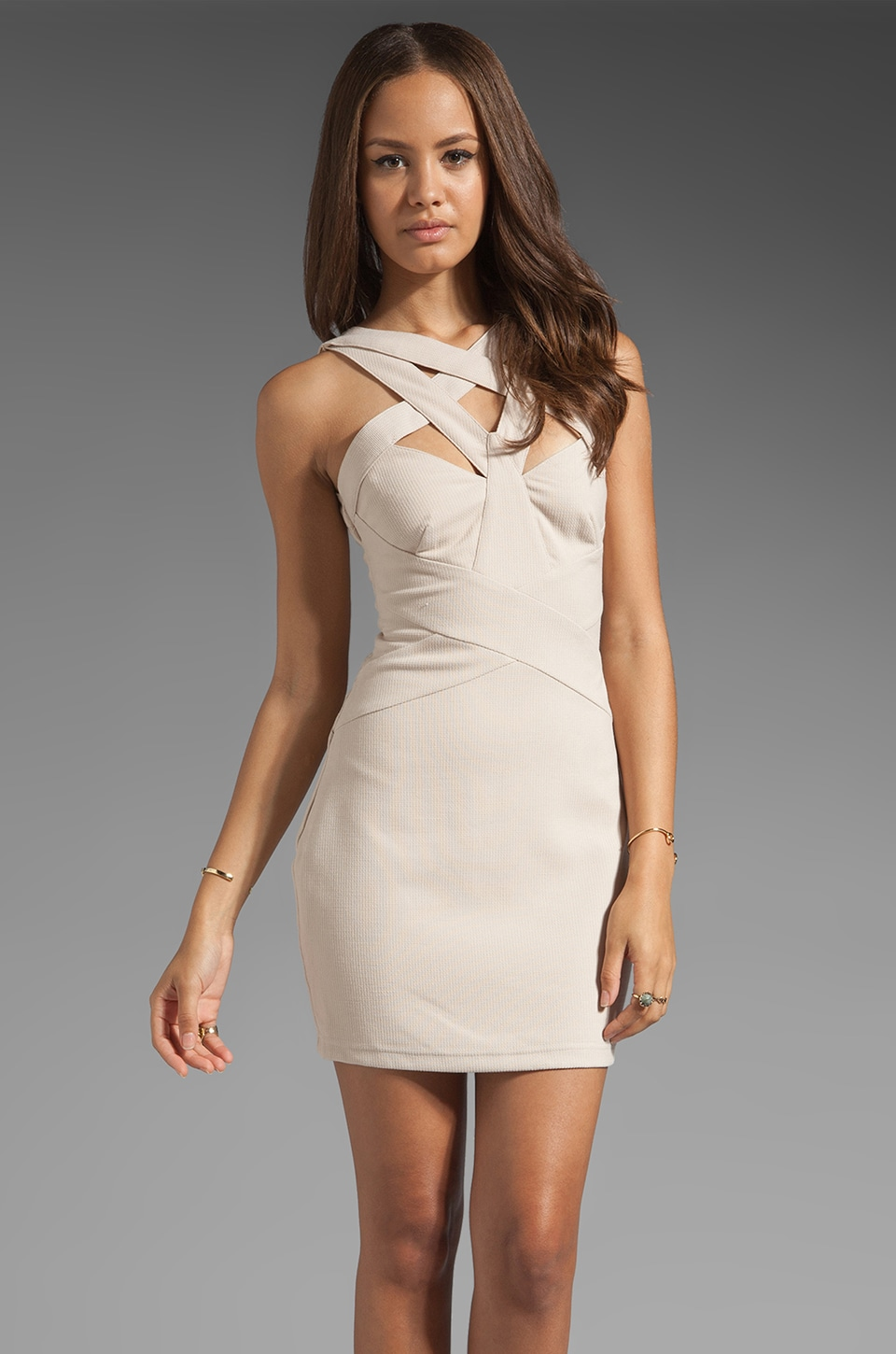 Finders Keepers Planet Waves Body Dress in Nude