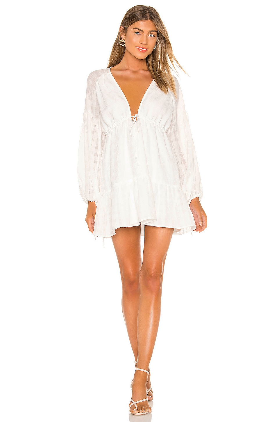 Finders Keepers Lucietti Mini Dress in Ivory