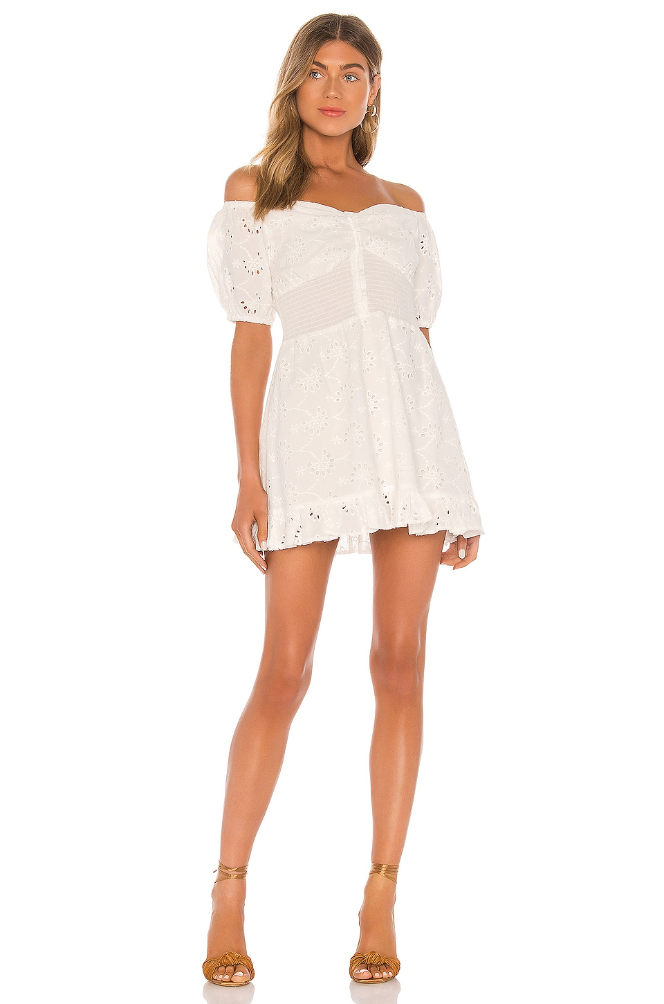 Finders Keepers Ditsy Doo Mini Dress in White