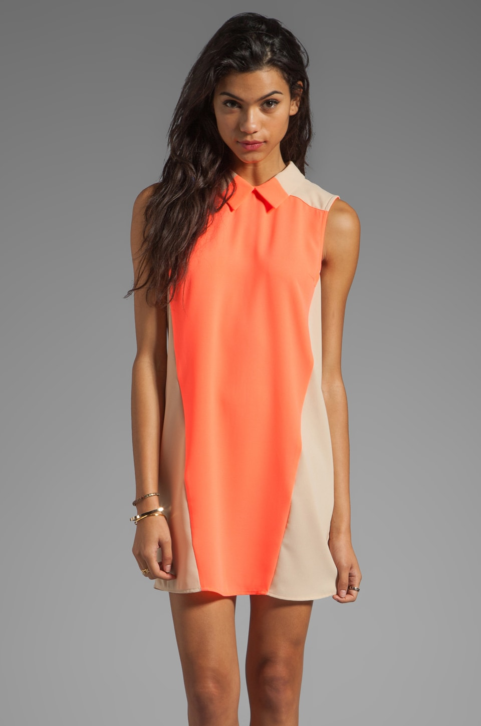 Finders Keepers December Dress in Sherbert/Nude