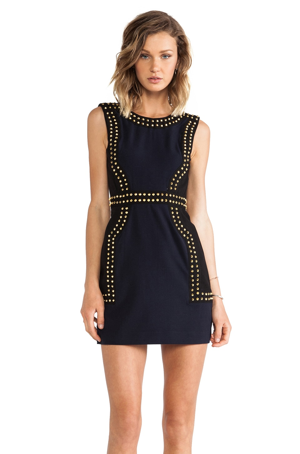 Finders Keepers One More Try Dress in Black/Indigo