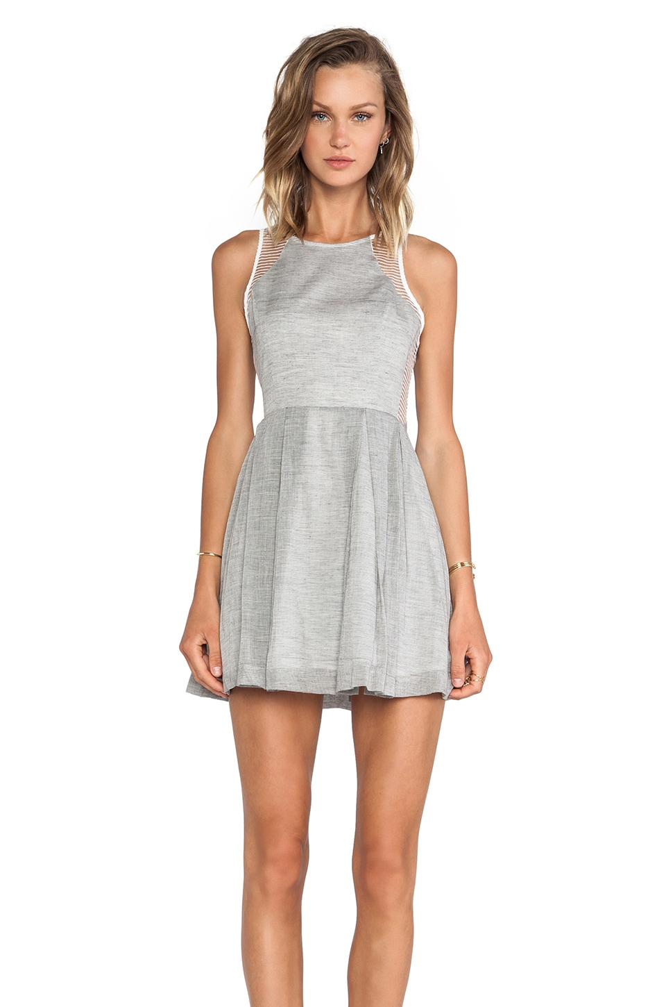 Finders Keepers Dr. Love Dress in Black/Sheer White