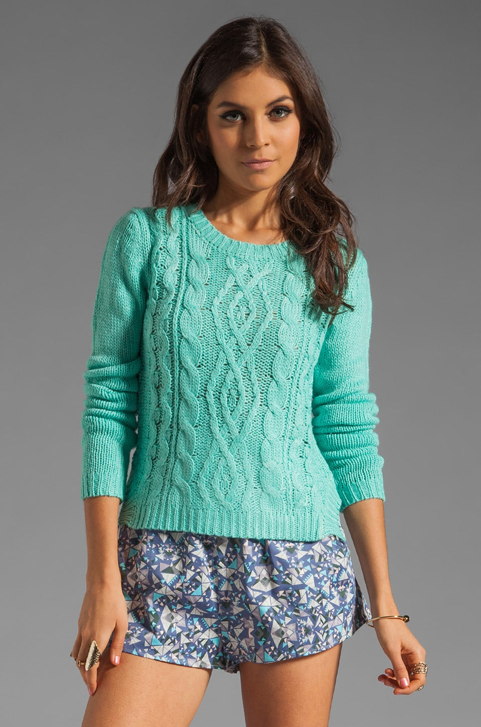 Finders Keepers Turn Around Knit in Spearmint