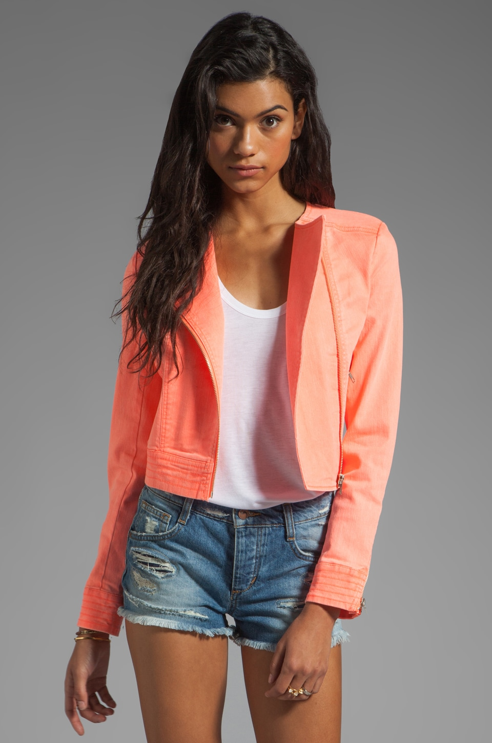 Finders Keepers Speak to Me Jacket in Sherbert