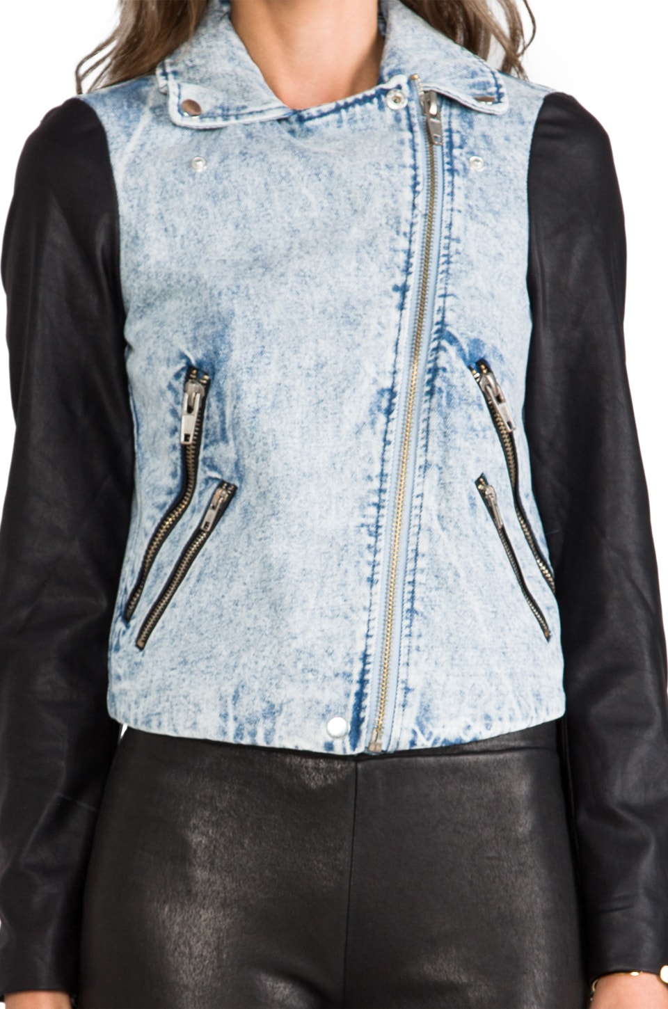 Finders Keepers Moonlight Jacket in Denim/Black