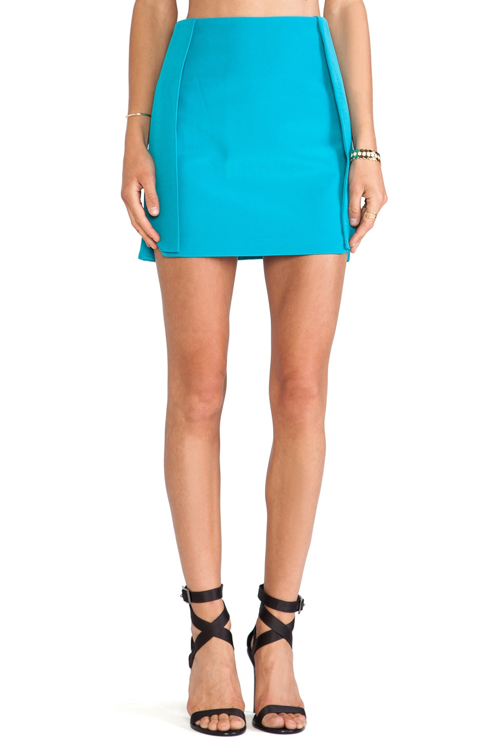 Finders Keepers Slow Goodbye Skirt in Teal