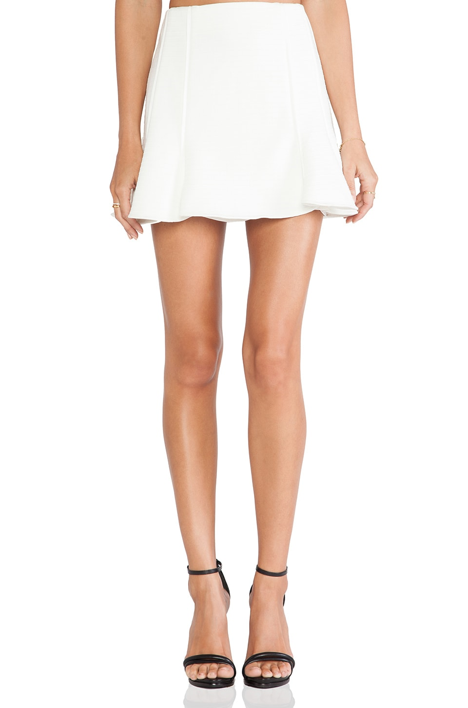 Finders Keepers Straight Talker Skirt in Ivory