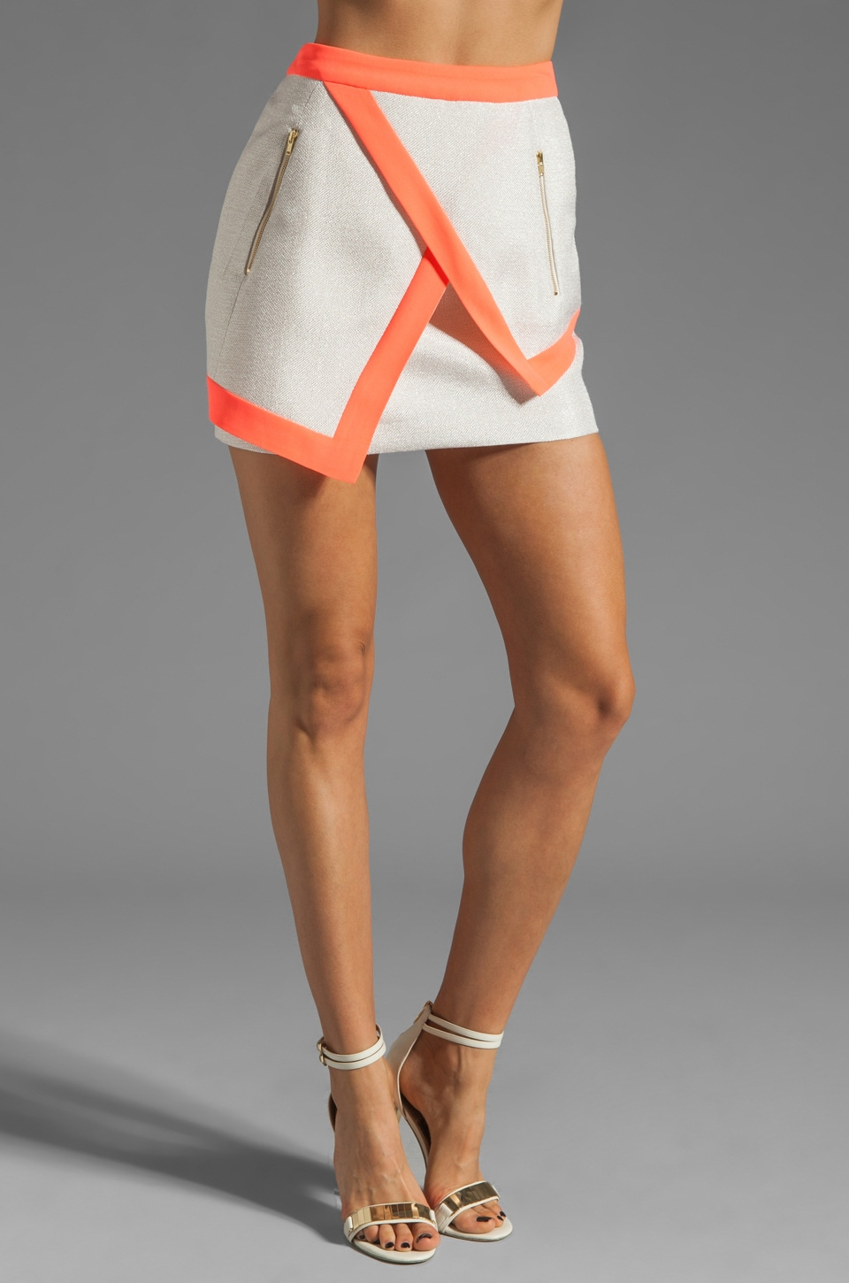 Finders Keepers I've Been Loving Skirt in Soft Gold/Sherbert