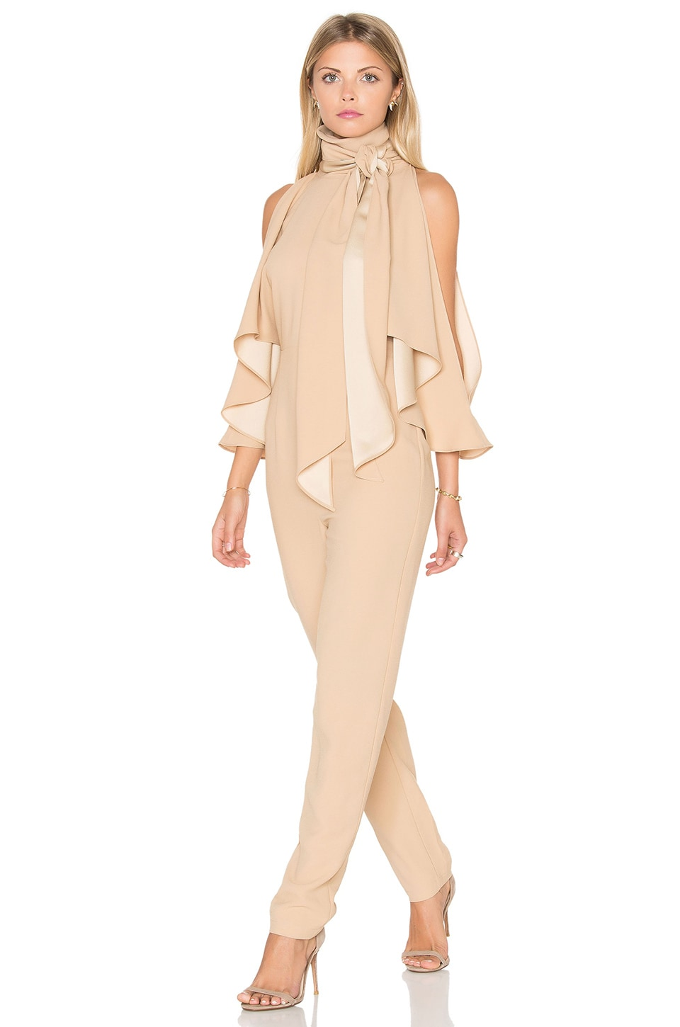 Finders Keepers Real Slow Jumpsuit in Bisque