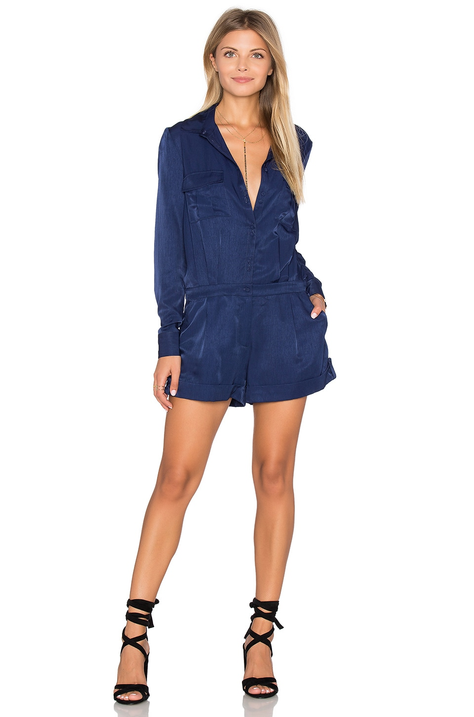 Great Heights Long Sleeve Romper by Finders Keepers
