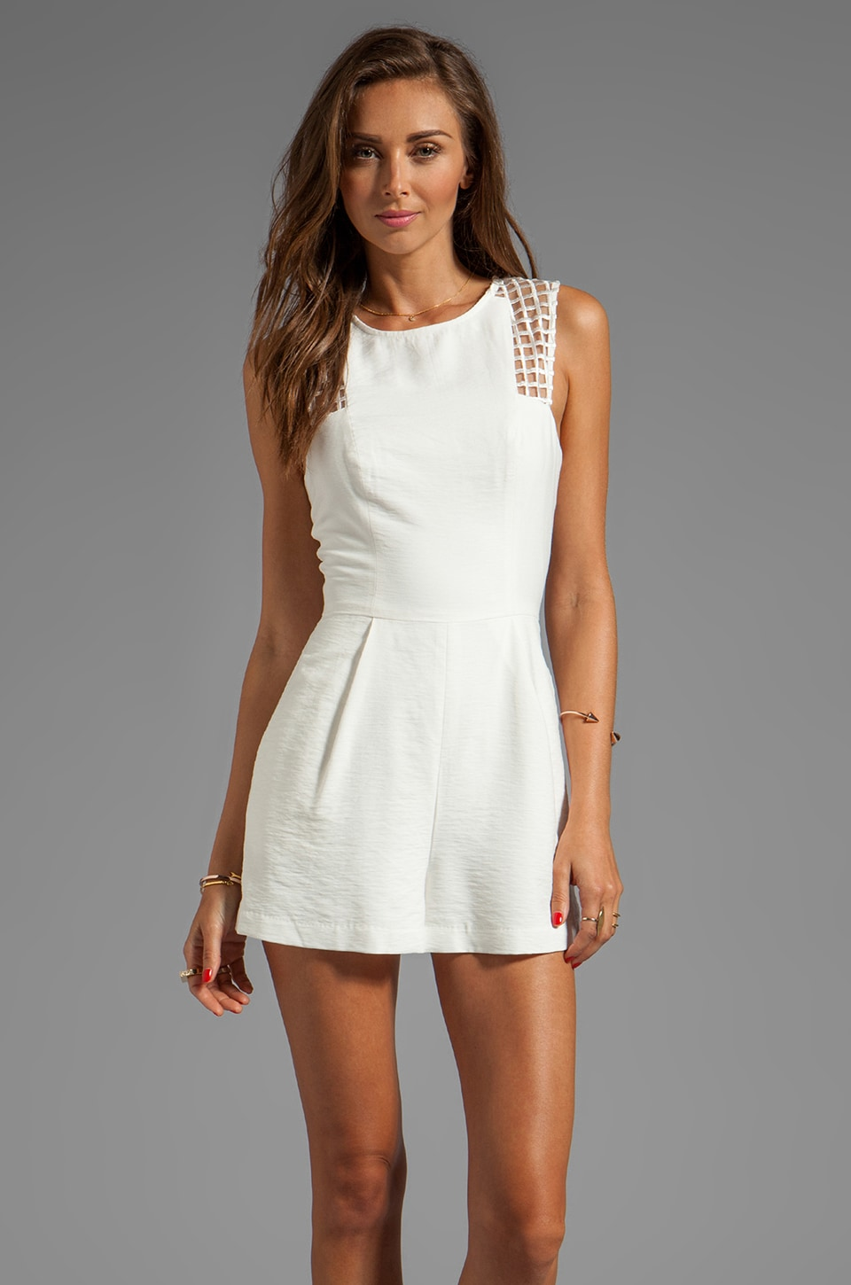 Finders Keepers Here We Go Play Suit in White