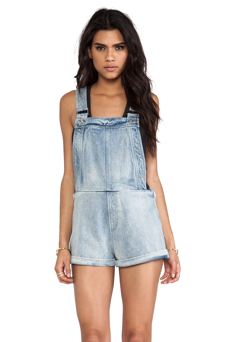 Finders Keepers Pawn Shop Blues Playsuit in Denim