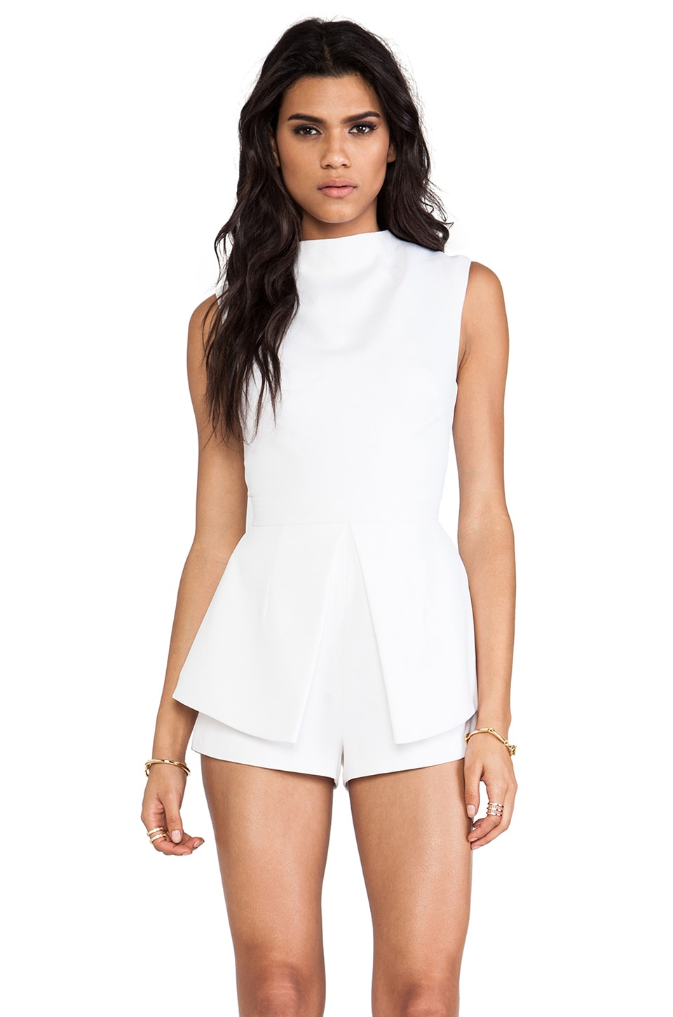 Finders Keepers Take a Bow Playsuit in Ivory