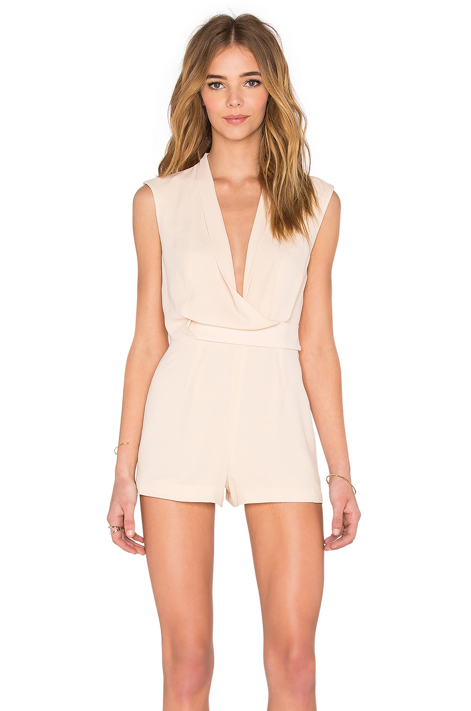 Finders Keepers Dreaming Of You Playsuit in Beige