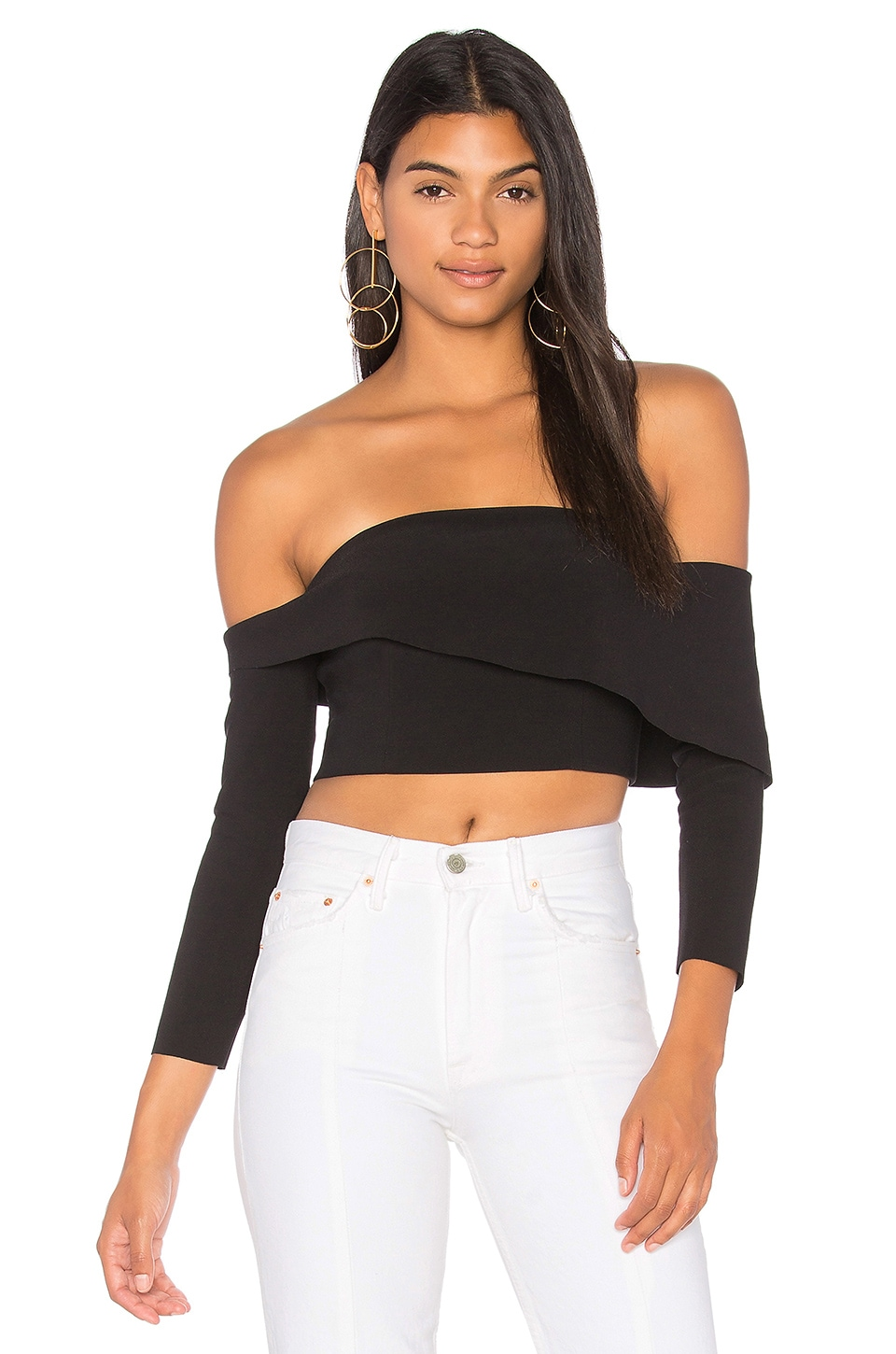 Finders Keepers Chances Long Sleeve Top in Black