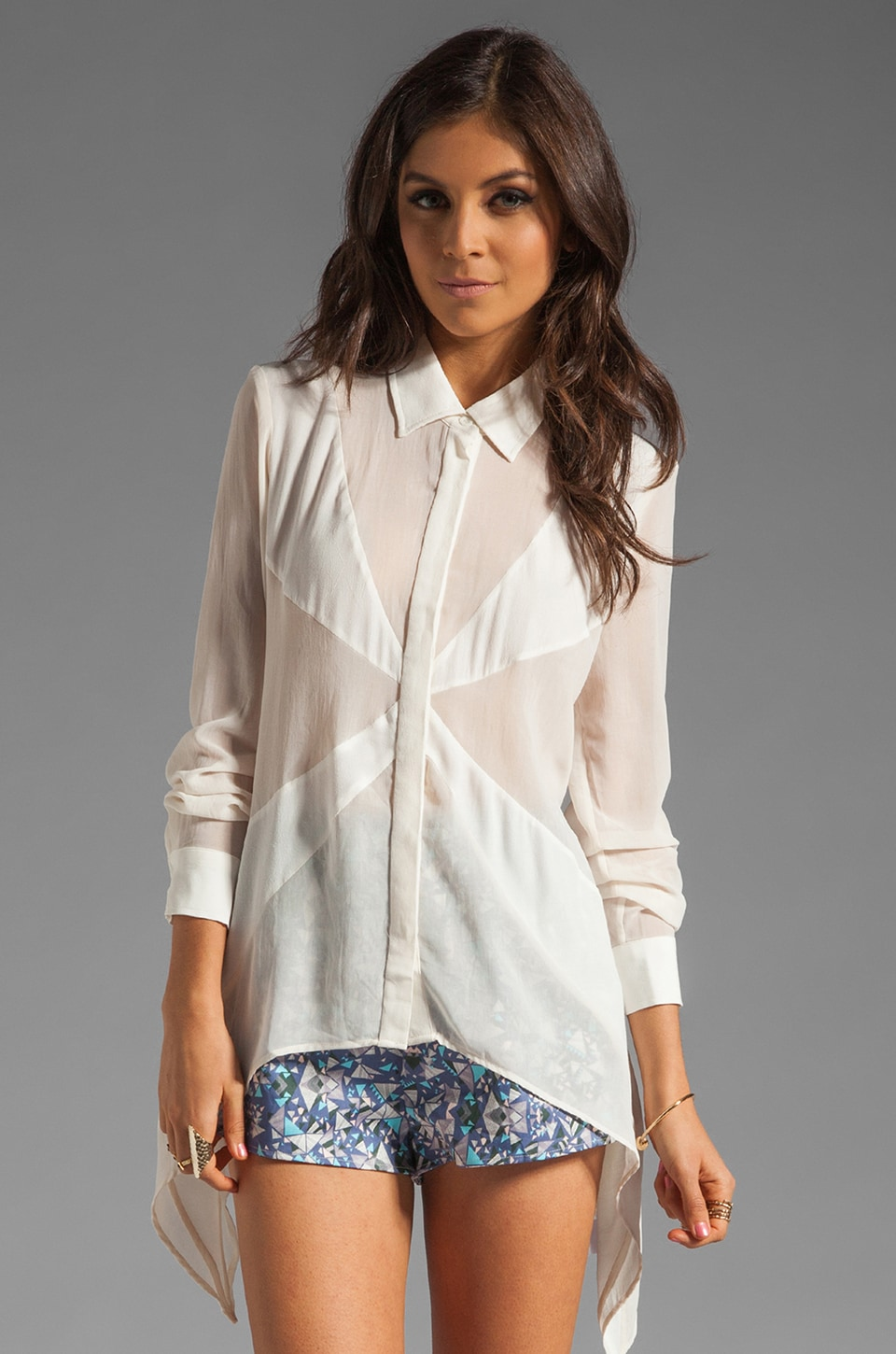 Finders Keepers Simple Life Long Sleeve Shirt in Ivory