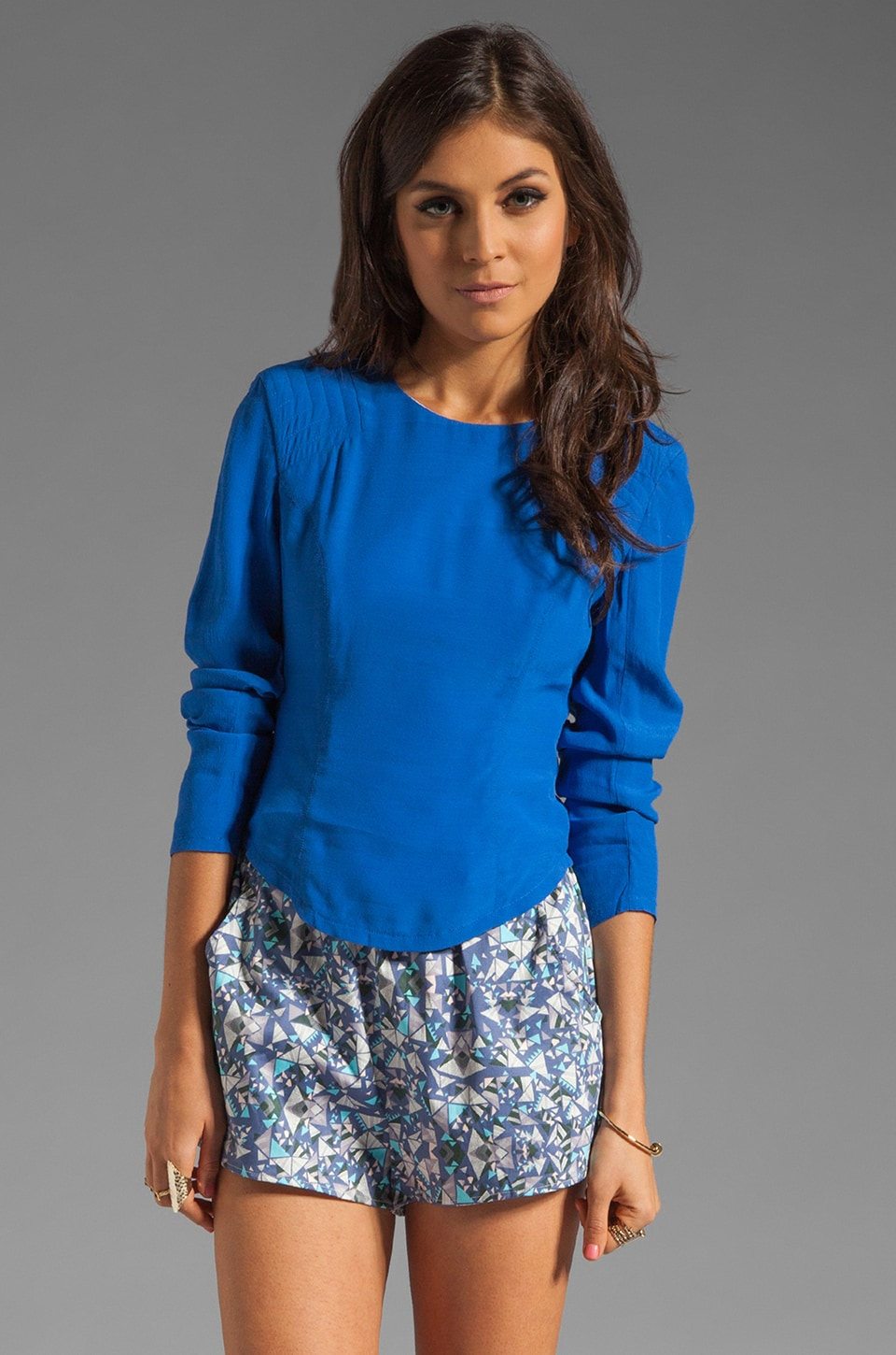 Finders Keepers Your Song Long Sleeve Top in Nautical Blue