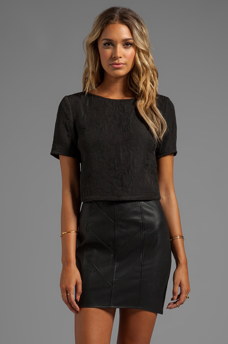 Finders Keepers Somerset Top in Black