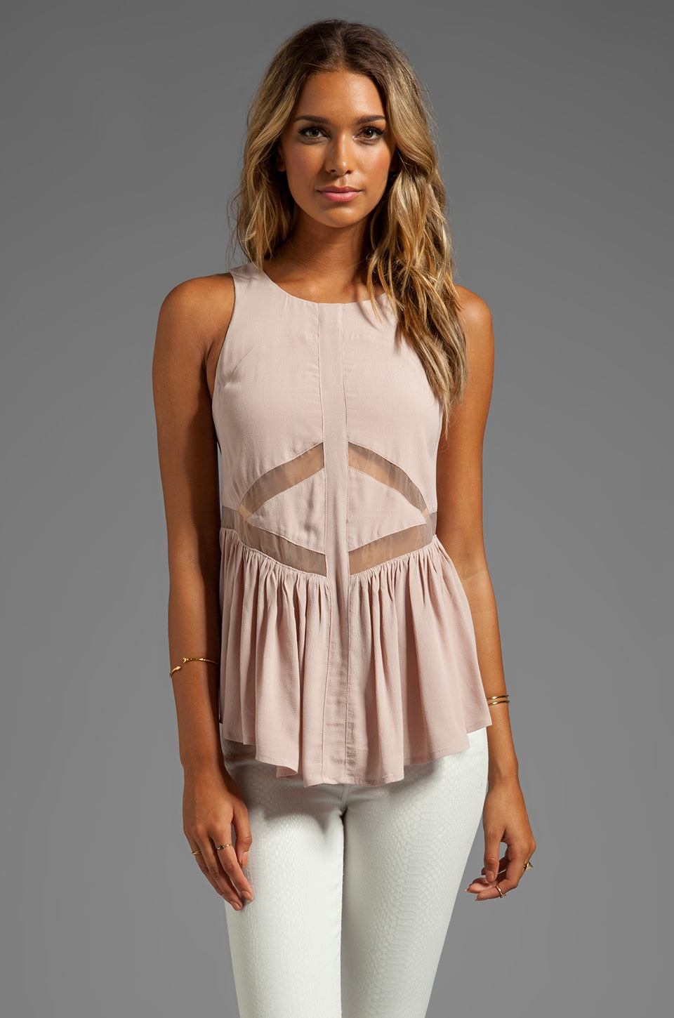 Finders Keepers Bright Side Top in Shell/Nude