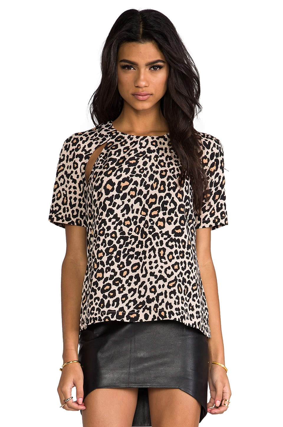 Finders Keepers Shape Shifter Top in Small Animal Print