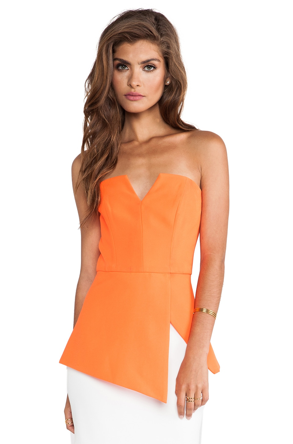 Finders Keepers Jump Then Fall Bustier Top in Burnt Orange