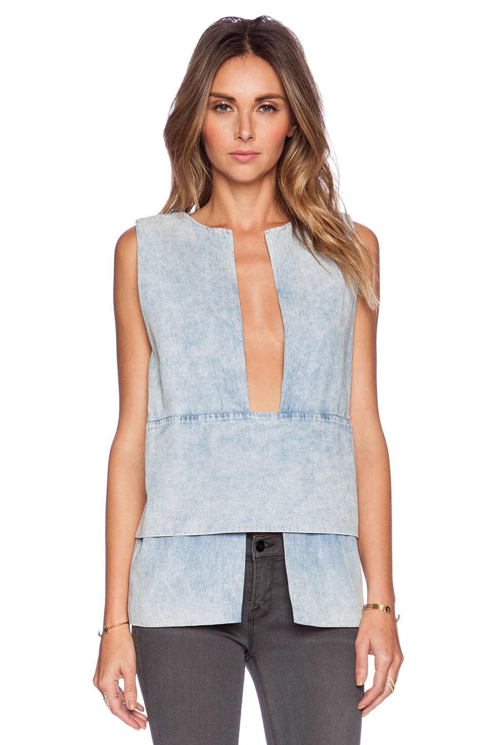 Finders Keepers Lucid Dreams Top in Chambray