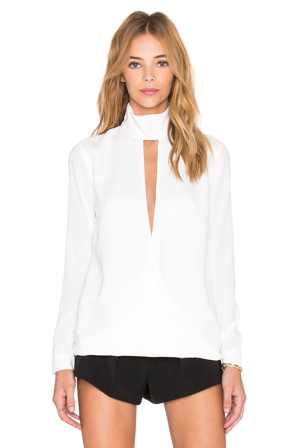 Finders Keepers The Light Long Sleeve Top in White