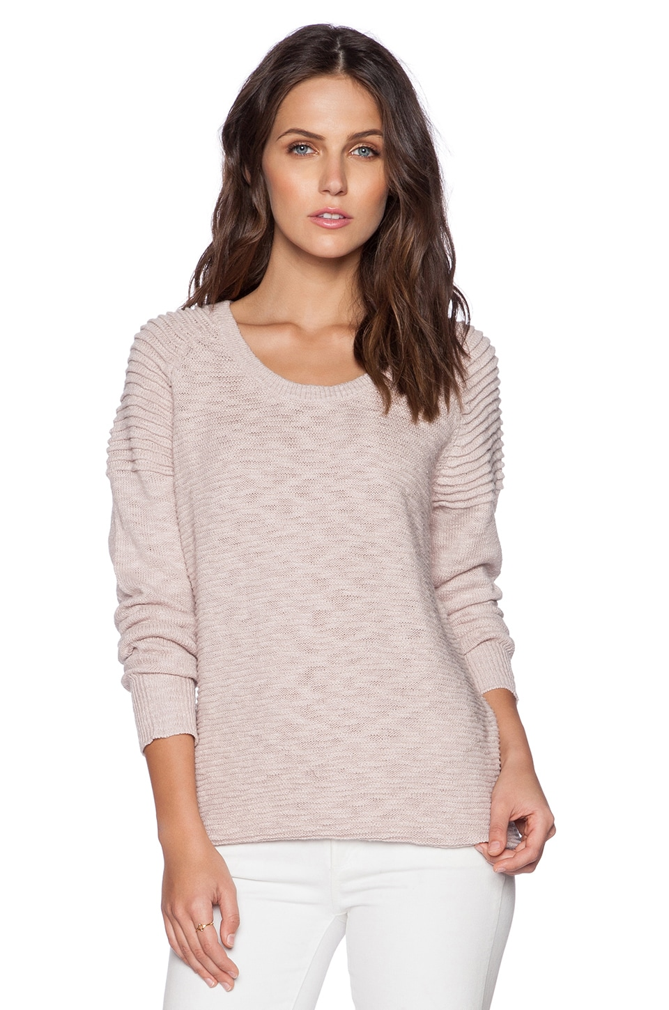 Fine Collection Sweater in Nacre