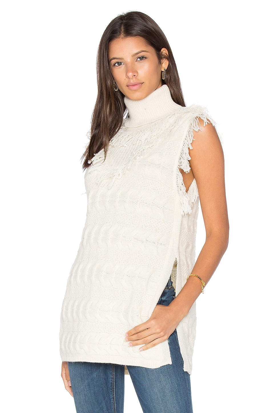 Daphne Sleeveless Sweater by Fine Collection