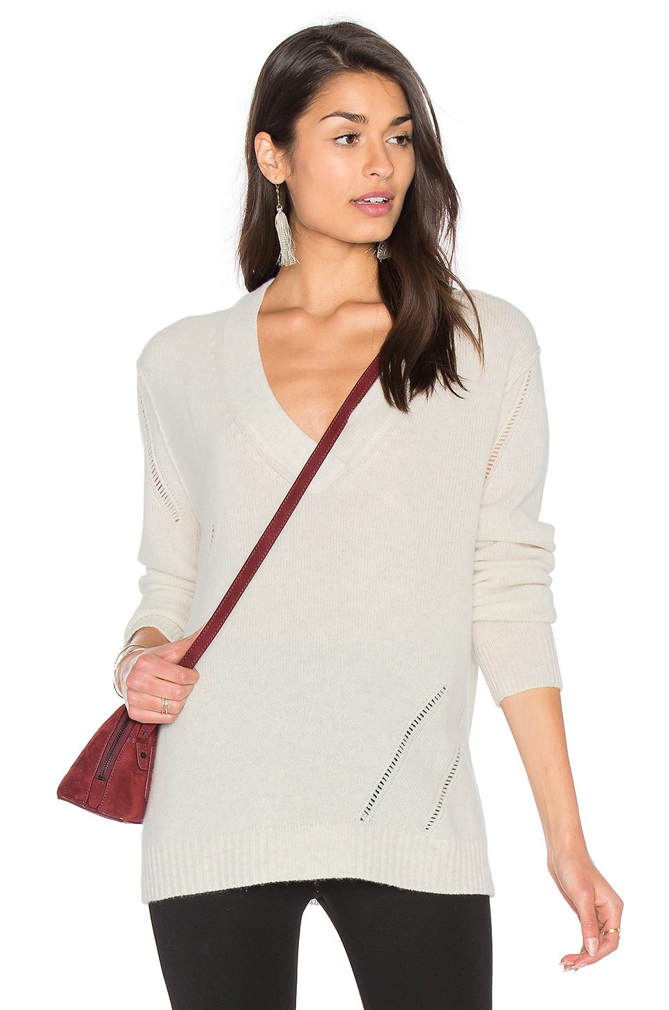 Candice V Neck Sweater by Fine Collection