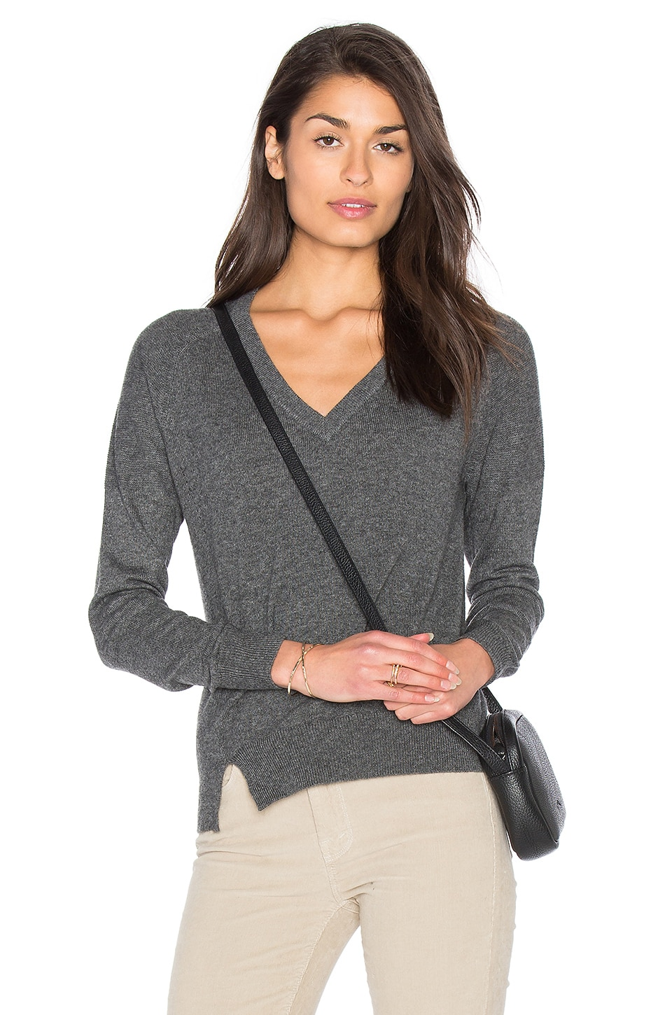 Sonia V Neck Sweater by Fine Collection