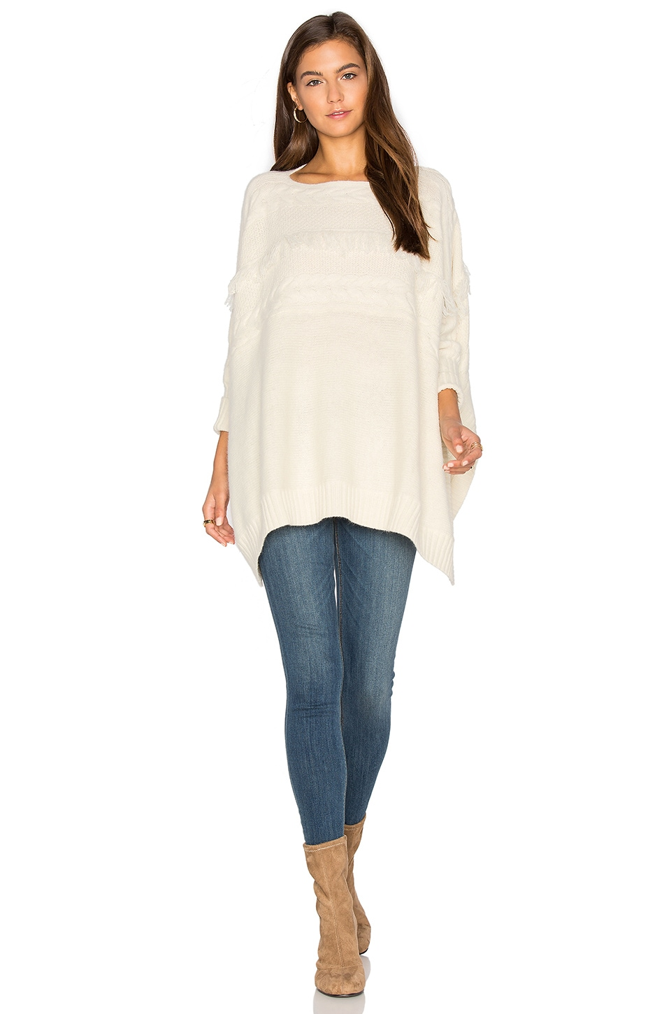 Dolly Fringe Sweater by Fine Collection