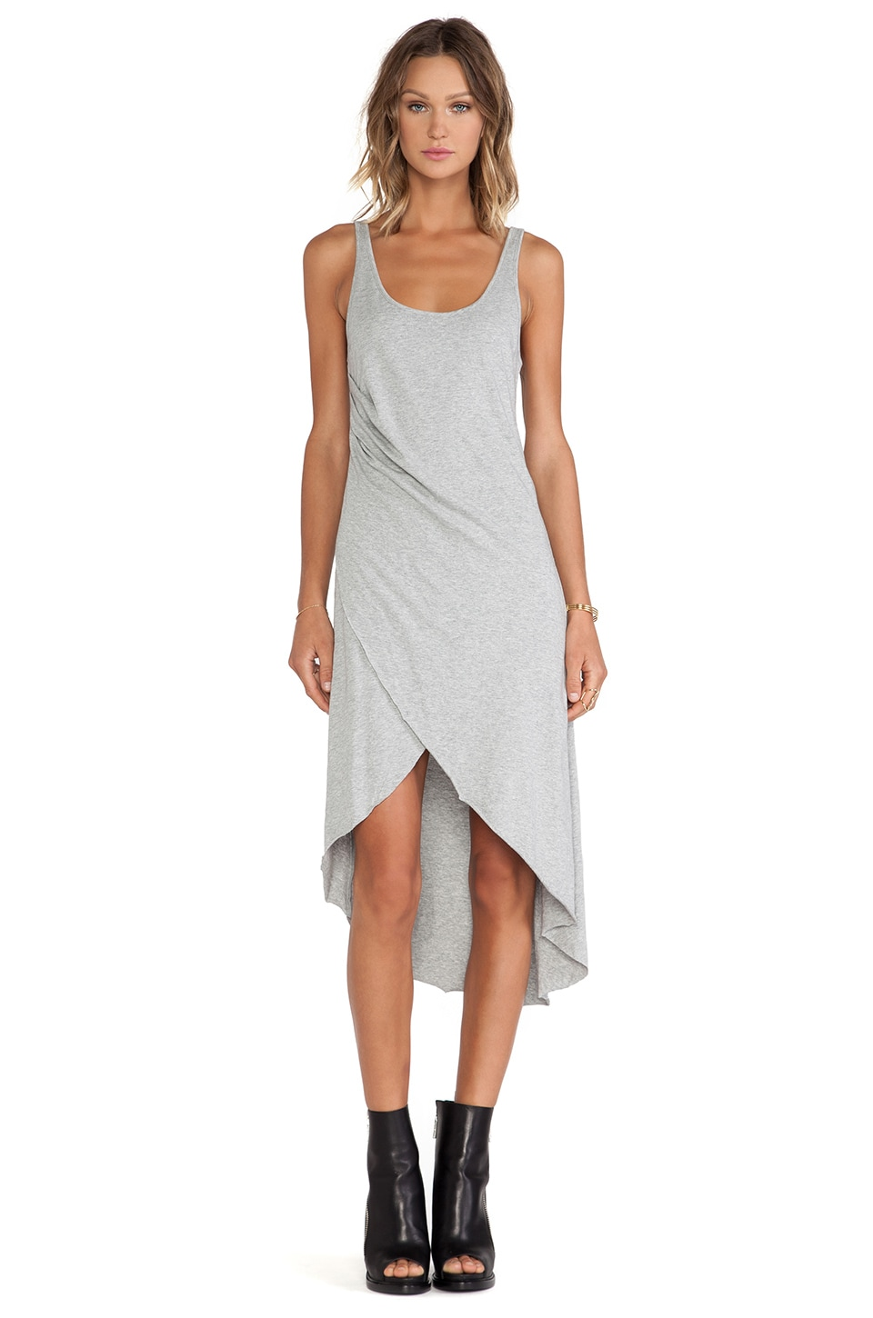 First Base Babin' Cross Over Dress in Grey Marle