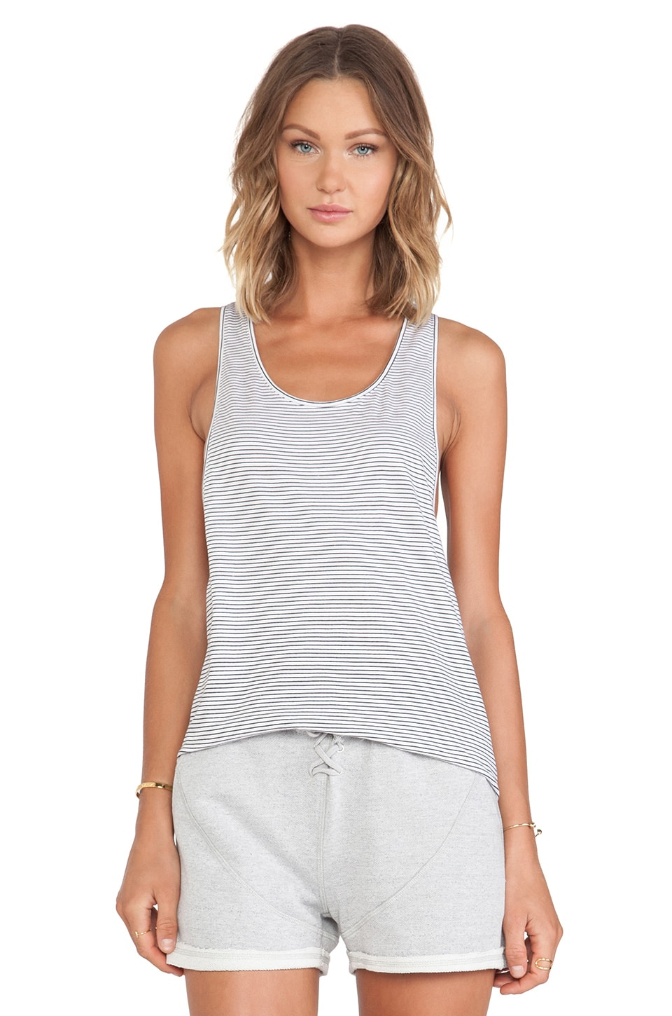 First Base Super Dropped Armhole Tank in Stripe