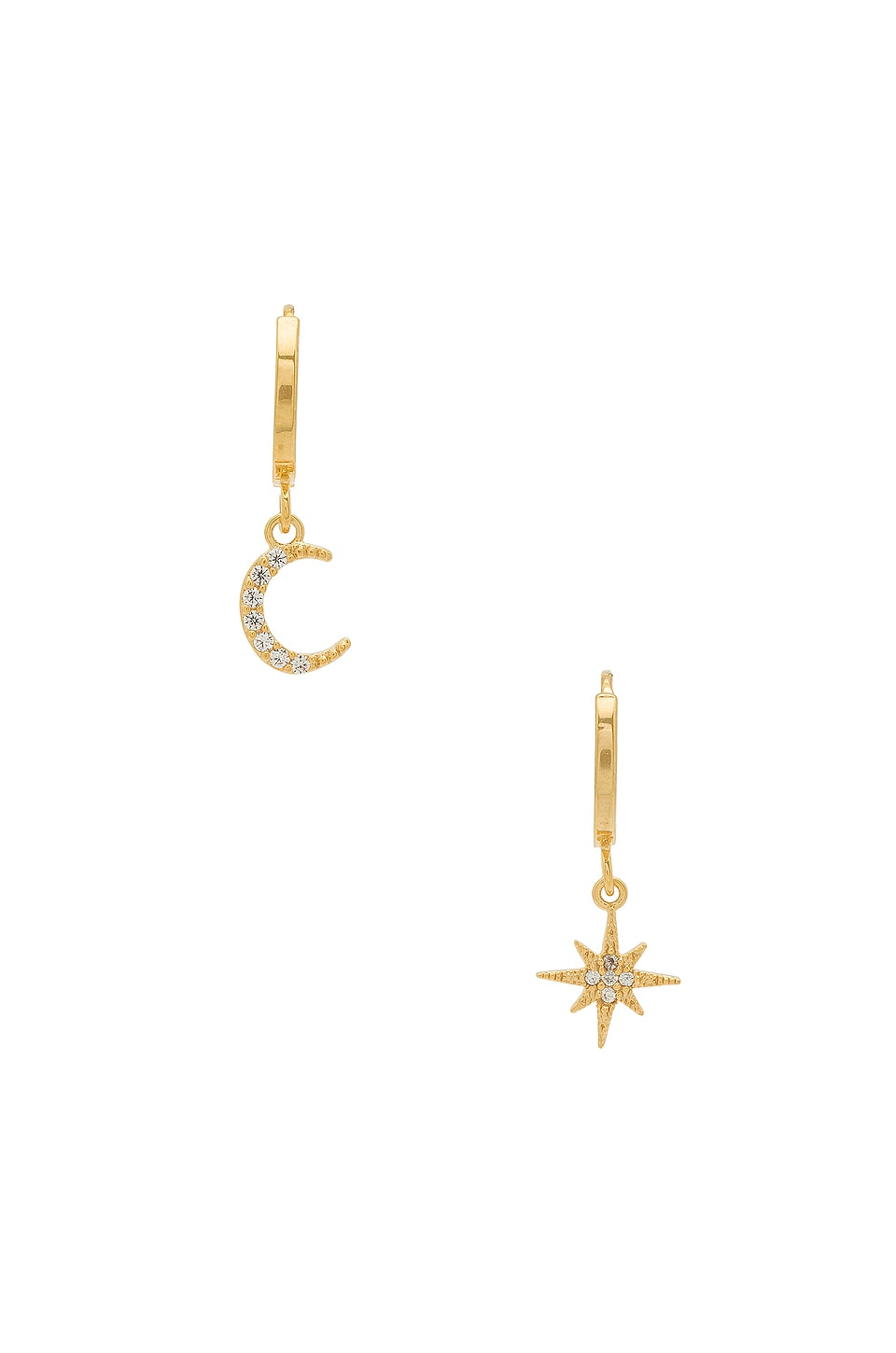 Five and Two Chloe Celestial Hoops in Gold