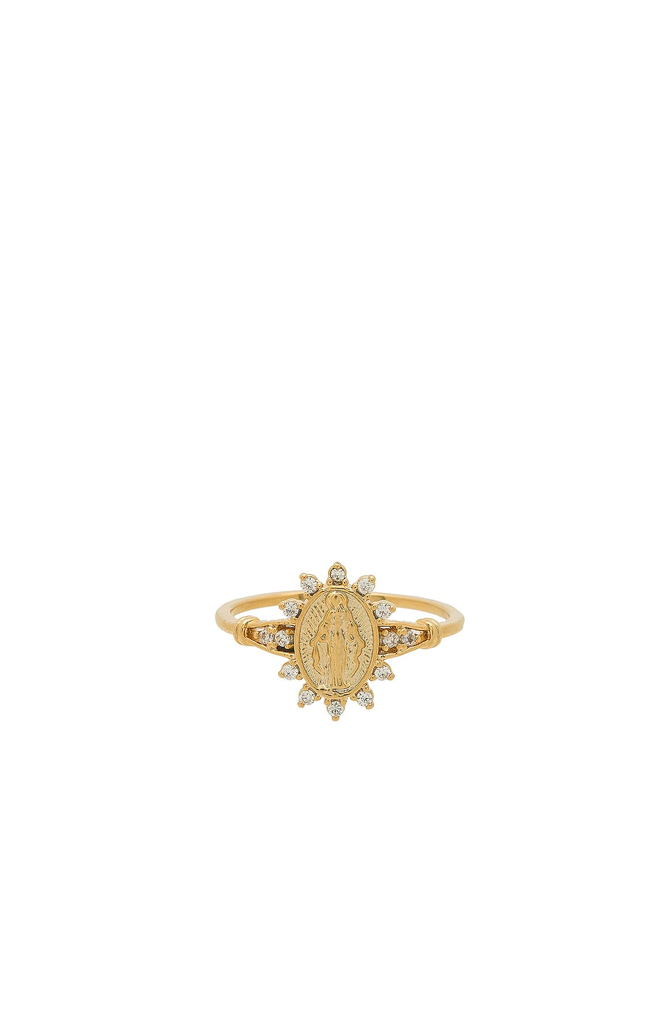 Five and Two Morena Saint Ring in Gold