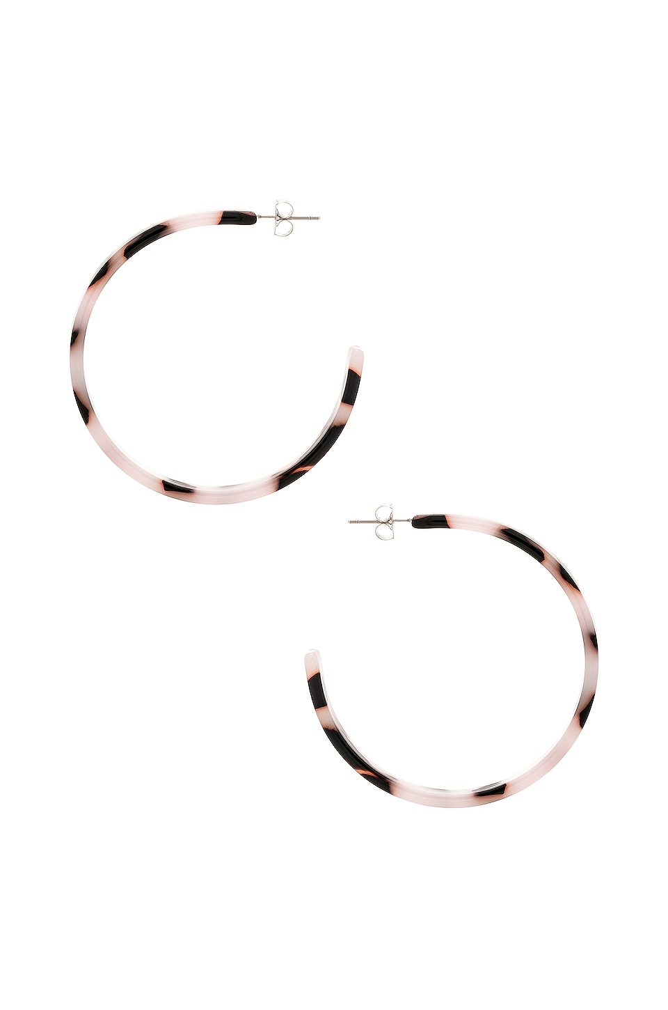 Five and Two Audrey Hoop Earrings in Blush