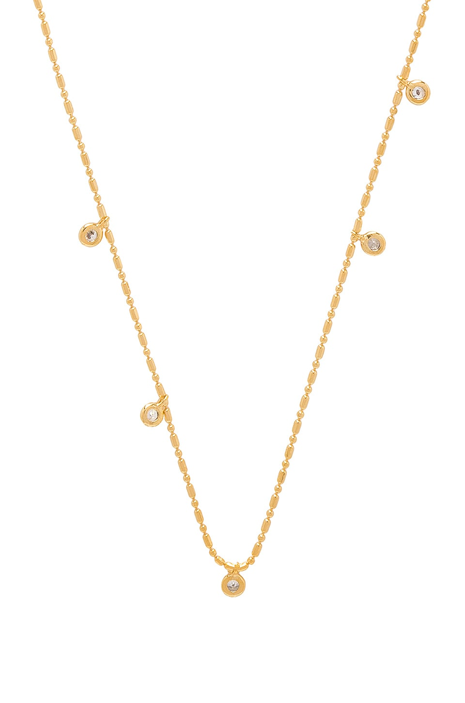 FIVE AND TWO June Necklace in Metallic Gold