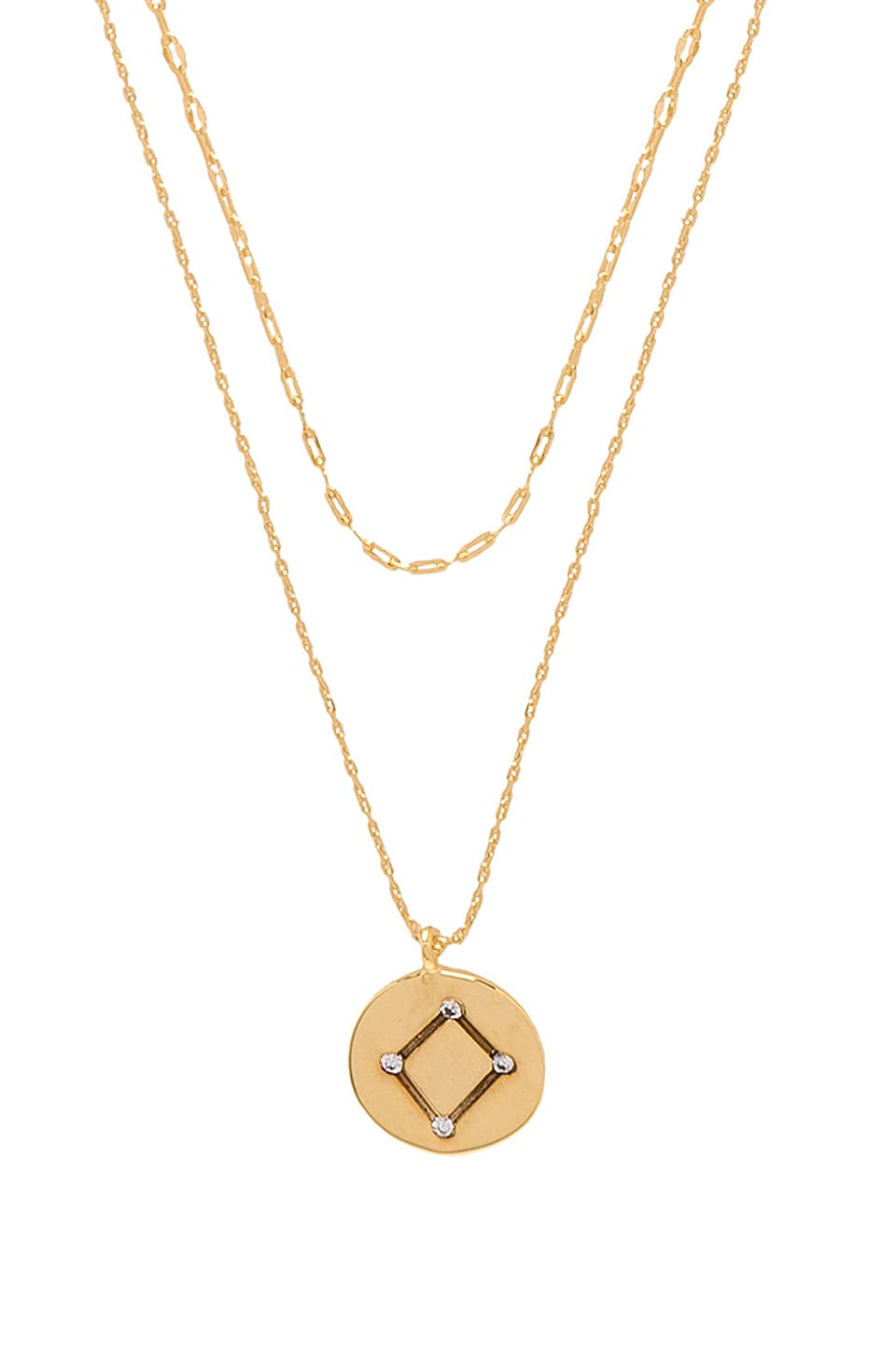Five and Two Orion Libra Necklace in Gold