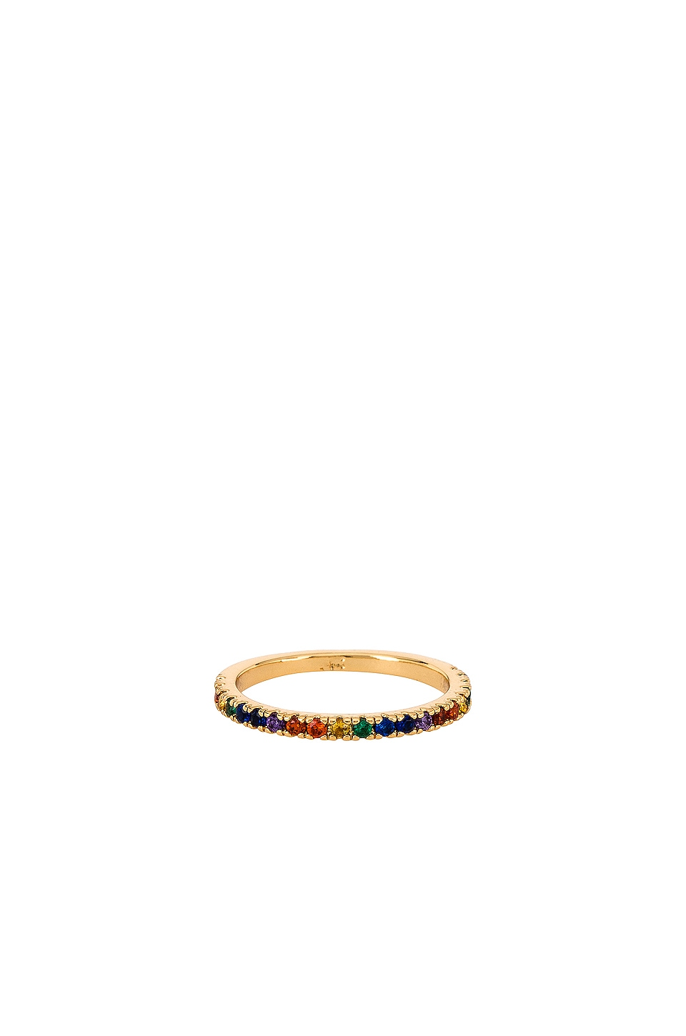 Five and Two Maria Rainbow Stone Ring in Rainbow & Gold