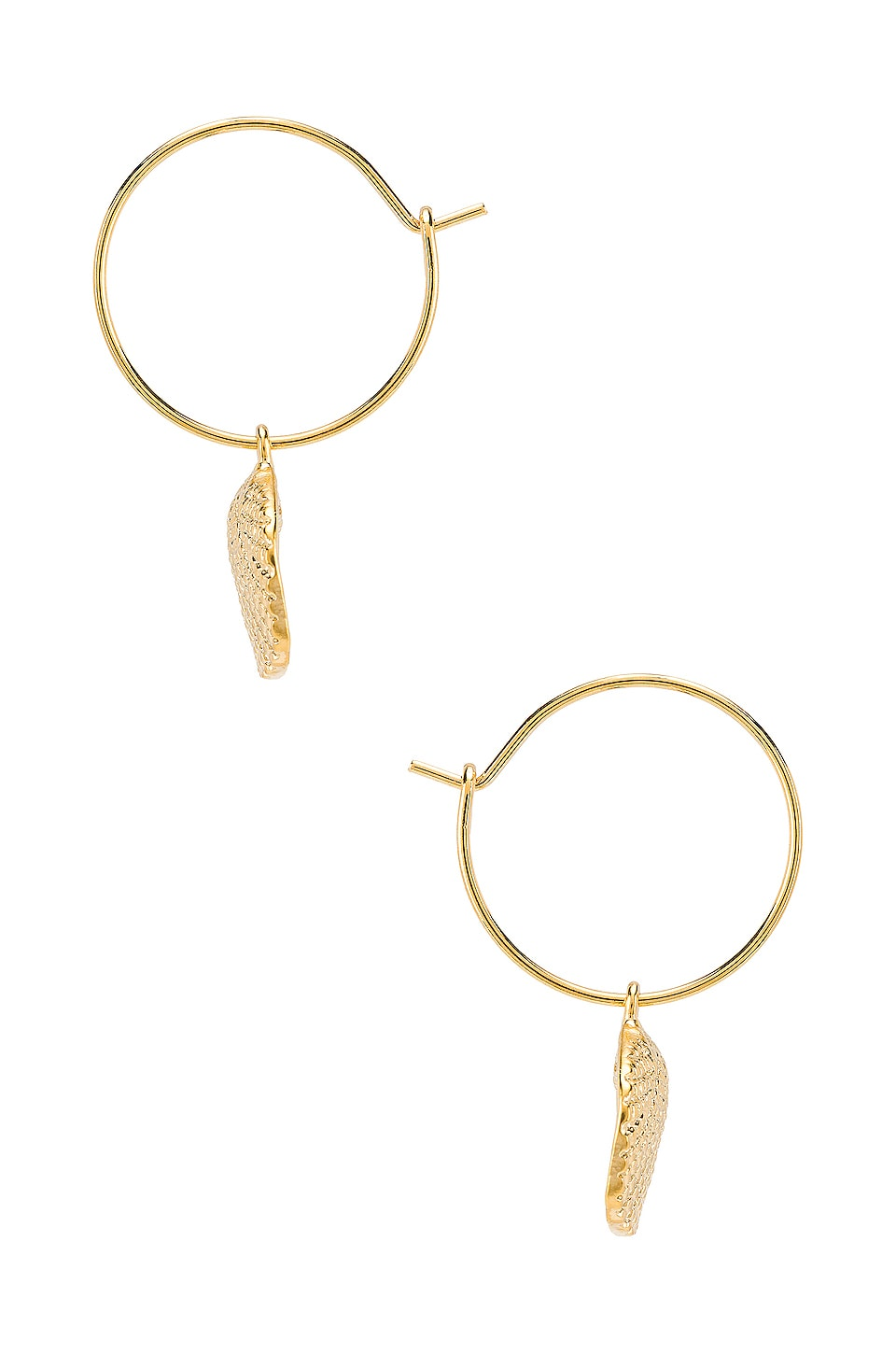 Five and Two Lana Earrings in Gold