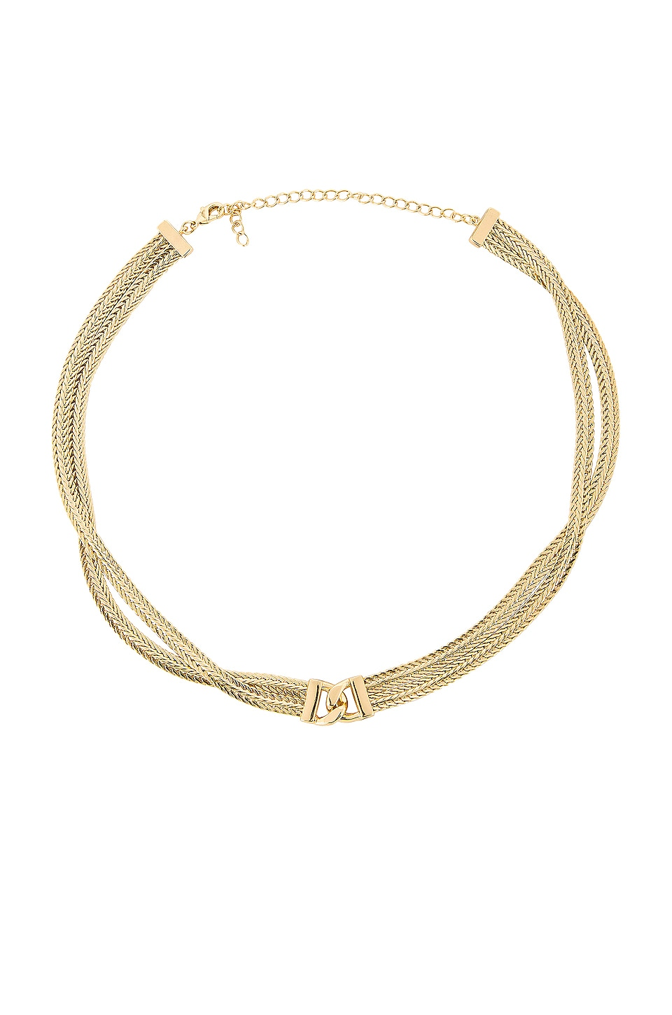 Five and Two Gemma Necklace in Gold