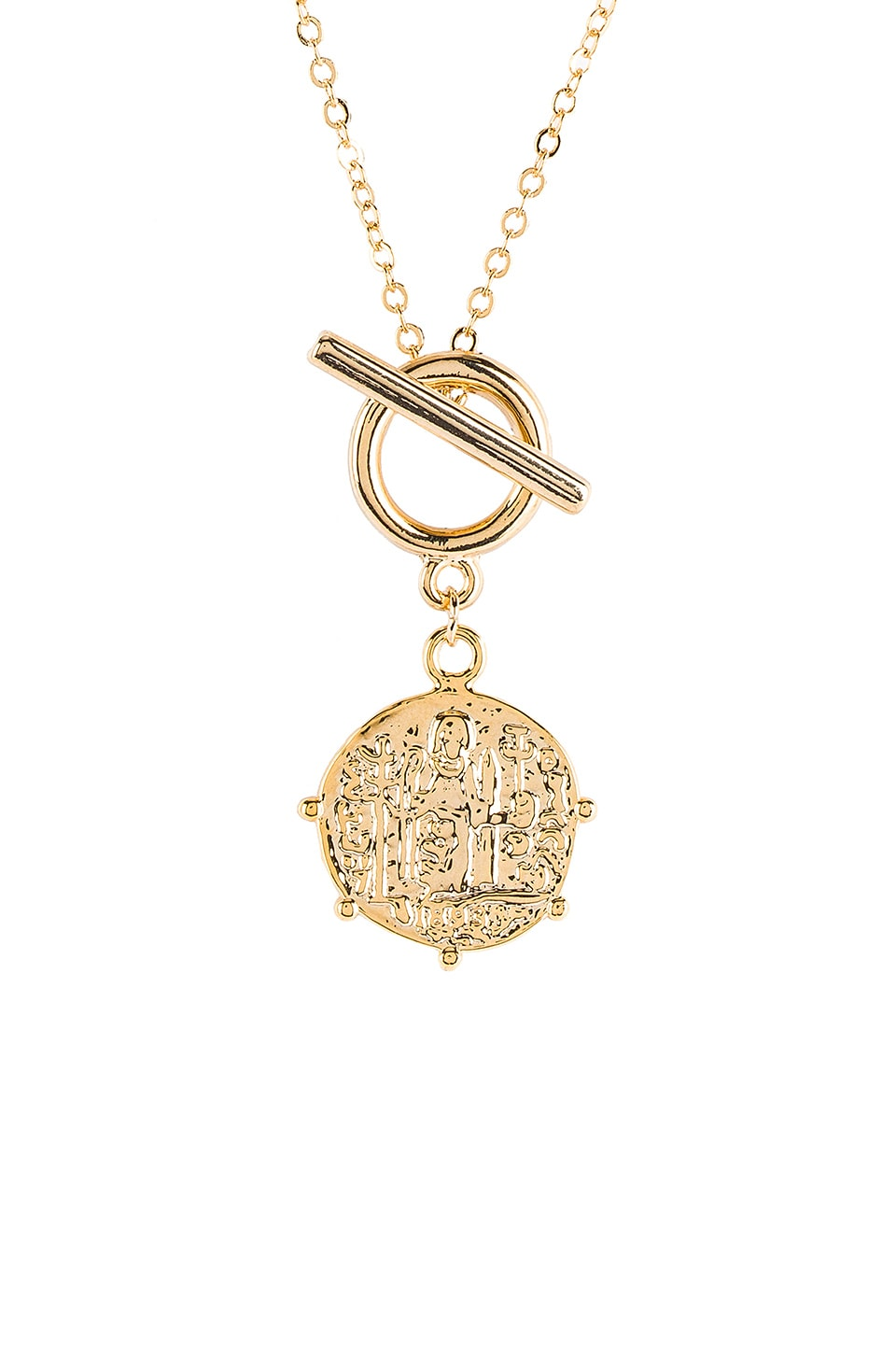 Five and Two Faye Necklace in Gold