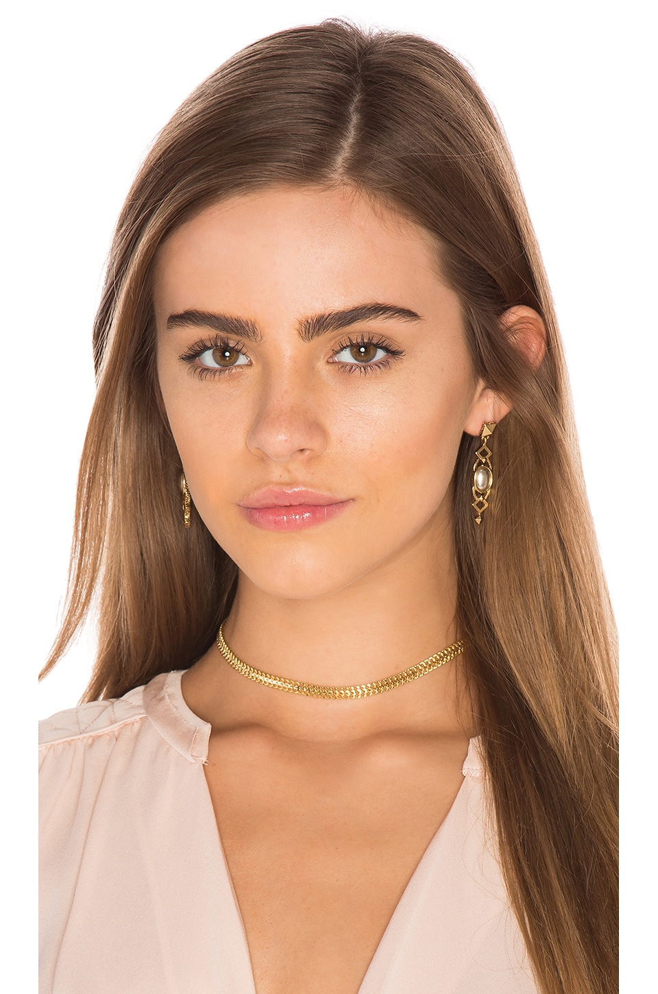 Five and Two Rumi Choker in Gold